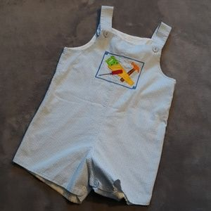 🔨 Mulberry St. Boys size 4t gingham overalls